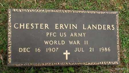 LANDERS (VETERAN WWII), CHESTER ERVIN - Sharp County, Arkansas   CHESTER ERVIN LANDERS (VETERAN WWII) - Arkansas Gravestone Photos