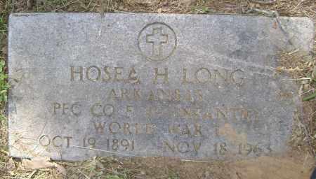 LONG (VETERAN WWI), HOSEA H. - Sharp County, Arkansas | HOSEA H. LONG (VETERAN WWI) - Arkansas Gravestone Photos