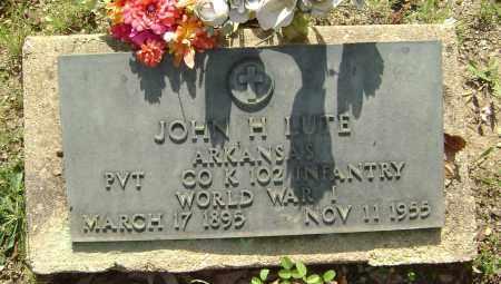 LUTE (VETERAN WWI), JOHN H. - Sharp County, Arkansas   JOHN H. LUTE (VETERAN WWI) - Arkansas Gravestone Photos