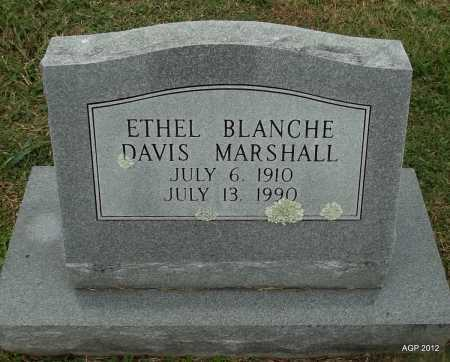 MARSHALL, ETHEL BLANCHE - Sharp County, Arkansas | ETHEL BLANCHE MARSHALL - Arkansas Gravestone Photos