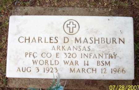 MASHBURN (VETERAN WWII), CHARLES D - Sharp County, Arkansas | CHARLES D MASHBURN (VETERAN WWII) - Arkansas Gravestone Photos