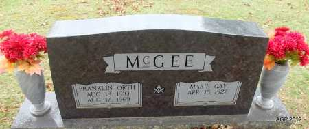 MCGEE, FRANKLIN ORTH - Sharp County, Arkansas | FRANKLIN ORTH MCGEE - Arkansas Gravestone Photos