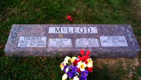 BURGE MCLEOD, ZOLA - Sharp County, Arkansas | ZOLA BURGE MCLEOD - Arkansas Gravestone Photos