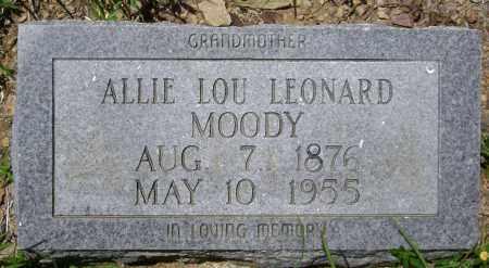 MOODY, ALLIE LOU - Sharp County, Arkansas | ALLIE LOU MOODY - Arkansas Gravestone Photos