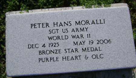 MORALLI (VETERAN WWII), PETER HANS - Sharp County, Arkansas   PETER HANS MORALLI (VETERAN WWII) - Arkansas Gravestone Photos