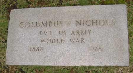 NICHOLS (VETERAN WWI), COLUMBUS FULTON - Sharp County, Arkansas | COLUMBUS FULTON NICHOLS (VETERAN WWI) - Arkansas Gravestone Photos