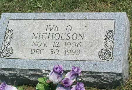 HOLT NICHOLSON, IVA O. - Sharp County, Arkansas | IVA O. HOLT NICHOLSON - Arkansas Gravestone Photos
