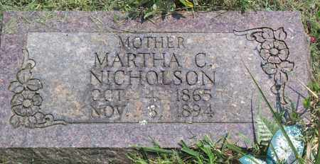 NICHOLSON, MARTHA CAROLINE - Sharp County, Arkansas | MARTHA CAROLINE NICHOLSON - Arkansas Gravestone Photos