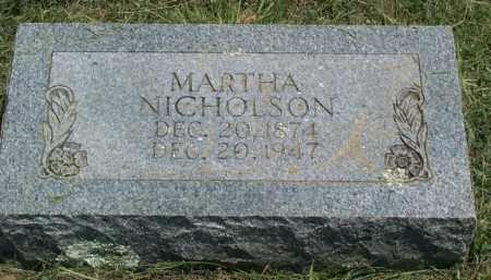 NICHOLSON, MARTHA MINERVA - Sharp County, Arkansas | MARTHA MINERVA NICHOLSON - Arkansas Gravestone Photos