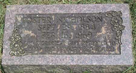 NICHOLSON, STEPHEN FOSTER - Sharp County, Arkansas | STEPHEN FOSTER NICHOLSON - Arkansas Gravestone Photos