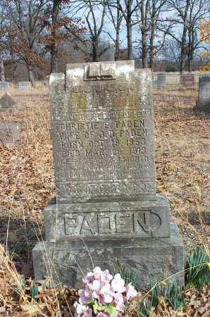 PADEN, CHRISTIE E. - Sharp County, Arkansas   CHRISTIE E. PADEN - Arkansas Gravestone Photos