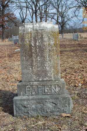 PADEN, JOHN DALLAS - Sharp County, Arkansas | JOHN DALLAS PADEN - Arkansas Gravestone Photos