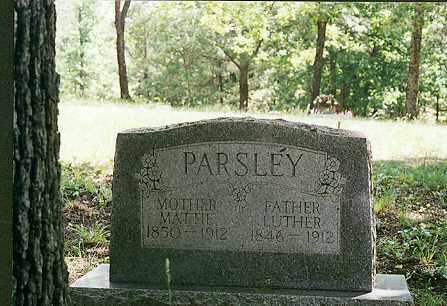 PARSLEY, LUTHER - Sharp County, Arkansas | LUTHER PARSLEY - Arkansas Gravestone Photos