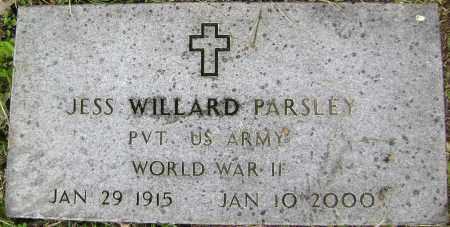 PARSLEY (VETERAN WWII), JESS WILLARD - Sharp County, Arkansas | JESS WILLARD PARSLEY (VETERAN WWII) - Arkansas Gravestone Photos