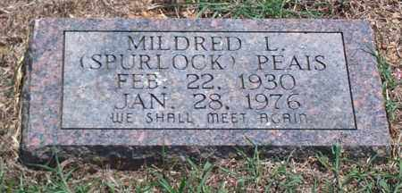 PEAIS, MILDRED L. - Sharp County, Arkansas   MILDRED L. PEAIS - Arkansas Gravestone Photos