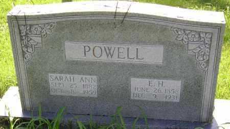 POWELL, E. H. - Sharp County, Arkansas | E. H. POWELL - Arkansas Gravestone Photos