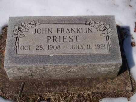 "PRIEST, JOHN FRANKLIN ""FRANK"" - Sharp County, Arkansas 