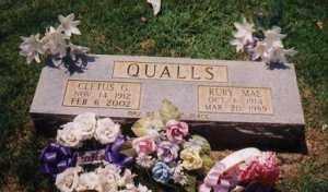THOMAS QUALLS, RUBY MAE - Sharp County, Arkansas | RUBY MAE THOMAS QUALLS - Arkansas Gravestone Photos