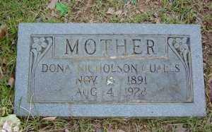 NICHOLSON QUALLS, DONA - Sharp County, Arkansas   DONA NICHOLSON QUALLS - Arkansas Gravestone Photos