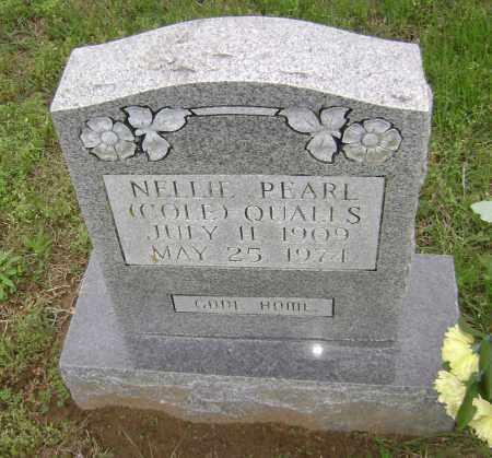 COLE QUALLS, NELLIE PEARL - Sharp County, Arkansas | NELLIE PEARL COLE QUALLS - Arkansas Gravestone Photos