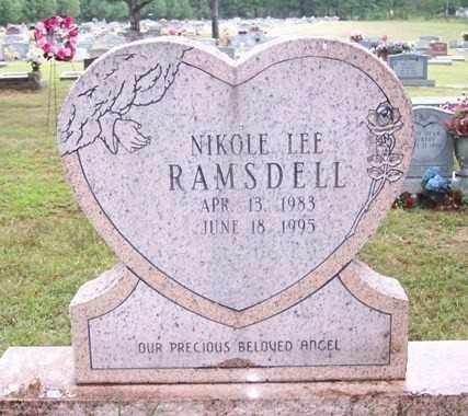 RAMSDELL, NIKOLE LEE - Sharp County, Arkansas | NIKOLE LEE RAMSDELL - Arkansas Gravestone Photos