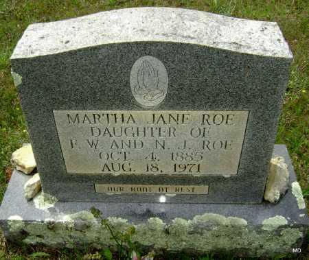 ROE, MARTHA JANE - Sharp County, Arkansas | MARTHA JANE ROE - Arkansas Gravestone Photos