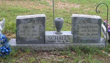 SCHALES, FRED W. - Sharp County, Arkansas | FRED W. SCHALES - Arkansas Gravestone Photos