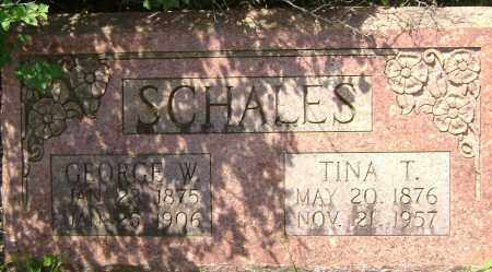 SCHALES, GEORGE W. - Sharp County, Arkansas | GEORGE W. SCHALES - Arkansas Gravestone Photos