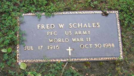 SCHALES (VETERAN WWII), FRED W. - Sharp County, Arkansas   FRED W. SCHALES (VETERAN WWII) - Arkansas Gravestone Photos
