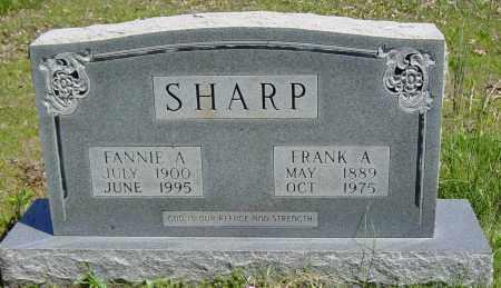 "SHARP, FRANCES A. ""FANNIE"" - Sharp County, Arkansas | FRANCES A. ""FANNIE"" SHARP - Arkansas Gravestone Photos"