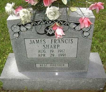 SHARP, JAMES FRANCIS - Sharp County, Arkansas   JAMES FRANCIS SHARP - Arkansas Gravestone Photos