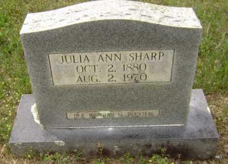 SHARP, JULIA ANN ELIZABETH - Sharp County, Arkansas | JULIA ANN ELIZABETH SHARP - Arkansas Gravestone Photos