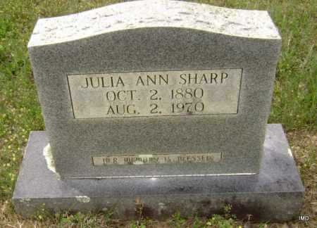ROE SHARP, JULIA ANN ELIZABETH - Sharp County, Arkansas | JULIA ANN ELIZABETH ROE SHARP - Arkansas Gravestone Photos