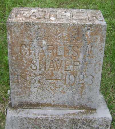 SHAVER, CHARLES W - Sharp County, Arkansas   CHARLES W SHAVER - Arkansas Gravestone Photos