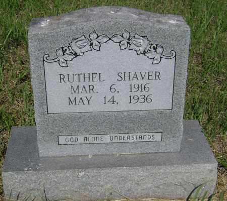 SHAVER, RUTHEL - Sharp County, Arkansas | RUTHEL SHAVER - Arkansas Gravestone Photos