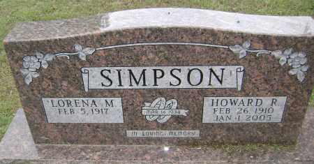 SIMPSON, HOWARD R - Sharp County, Arkansas | HOWARD R SIMPSON - Arkansas Gravestone Photos