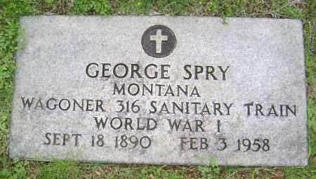 SPRY (VETERAN WWI), GEORGE - Sharp County, Arkansas | GEORGE SPRY (VETERAN WWI) - Arkansas Gravestone Photos