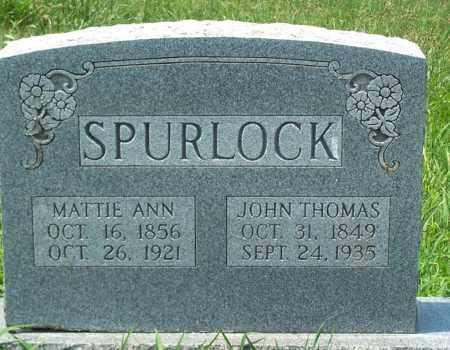 SPURLOCK, JOHN THOMAS - Sharp County, Arkansas   JOHN THOMAS SPURLOCK - Arkansas Gravestone Photos