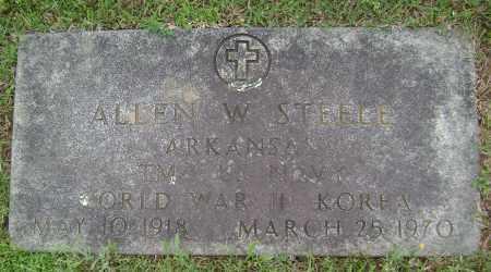 STEELE (VETERAN 2 WARS), ALLEN W - Sharp County, Arkansas   ALLEN W STEELE (VETERAN 2 WARS) - Arkansas Gravestone Photos