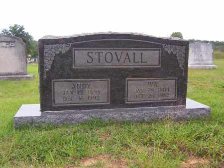 "STOVALL, AUDRY R. ""ANDY"" - Sharp County, Arkansas 
