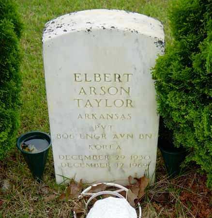 TAYLOR (VETERAN KOR), ELBERT ARSON - Sharp County, Arkansas | ELBERT ARSON TAYLOR (VETERAN KOR) - Arkansas Gravestone Photos