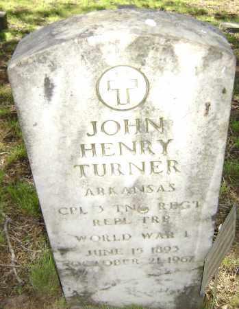 TURNER (VETERAN WWI), JOHN HENRY - Sharp County, Arkansas | JOHN HENRY TURNER (VETERAN WWI) - Arkansas Gravestone Photos