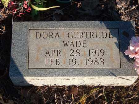 WADE, DORA GERTRUDE - Sharp County, Arkansas | DORA GERTRUDE WADE - Arkansas Gravestone Photos