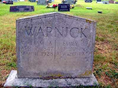 WARNICK, WILLIAM A - Sharp County, Arkansas | WILLIAM A WARNICK - Arkansas Gravestone Photos