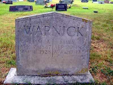 WARNICK, WILLIAM A - Sharp County, Arkansas   WILLIAM A WARNICK - Arkansas Gravestone Photos
