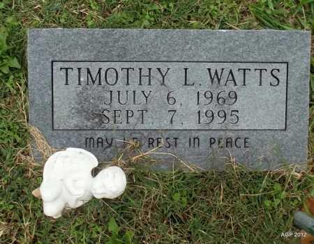 WATTS, TIMOTHY L - Sharp County, Arkansas   TIMOTHY L WATTS - Arkansas Gravestone Photos