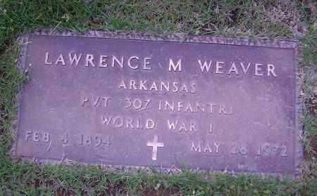 WEAVER (VETERAN WWI), LAWRENCE M - Sharp County, Arkansas   LAWRENCE M WEAVER (VETERAN WWI) - Arkansas Gravestone Photos