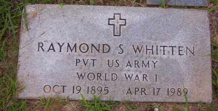 WHITTEN (VETERAN WWI), RAYMOND SYLVESTER - Sharp County, Arkansas | RAYMOND SYLVESTER WHITTEN (VETERAN WWI) - Arkansas Gravestone Photos