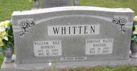 "WHITTEN, WILLIAM HOPKINS ""BILL"" - Sharp County, Arkansas | WILLIAM HOPKINS ""BILL"" WHITTEN - Arkansas Gravestone Photos"