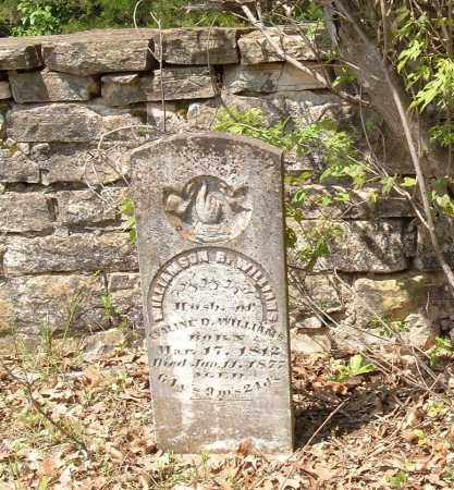 WILLIAMS, WILLIAMSON R. - Sharp County, Arkansas | WILLIAMSON R. WILLIAMS - Arkansas Gravestone Photos